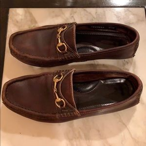 Gucci brown moccasin